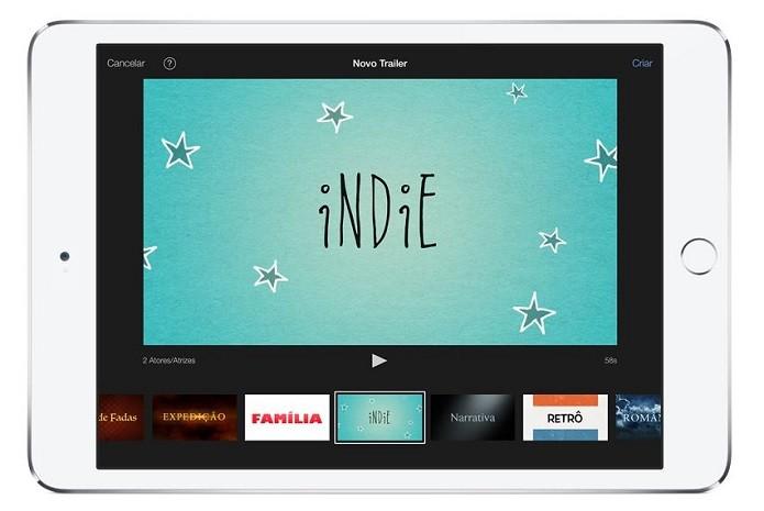 O iMovie é um app exclusivo para iOS e desenvolvido pela própria Apple (Foto: Divulgação/Apple)