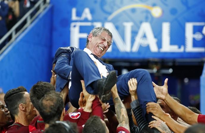 Fernando Santos Portugal Eurocopa campeão (Foto: Reuters)