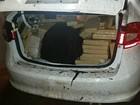 PRF apreende 744 kg de maconha em carro que fugiu de abordagem