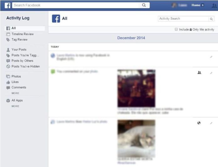 3fe3076598 Menu permite acesso aos posts e mudança de configuração (Foto  Reprodução    Laura Martins