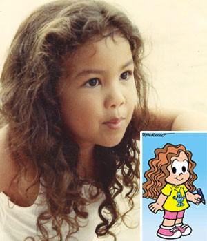 Marina Sousa desenha desde pequena. Quando criança, ganhou um personagem na Turma da Mônica de mesmo nome (Foto: Arquivo pessoal)