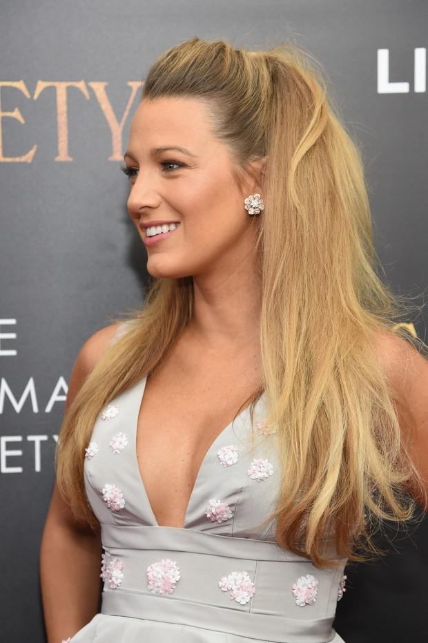 Blake Lively em première de filme em Nova York, nos Estados Unidos (Foto: Jamie McCarthy/ Getty Images/ AFP)