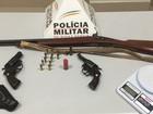 Homem é preso com revólveres e espingarda em Ipatinga, MG