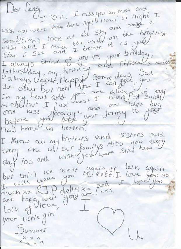 Após campanha on-line, bar devolve carta comovente escrita por menina para pai falecido