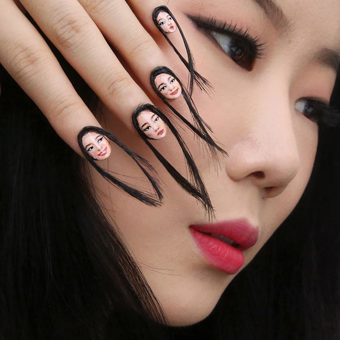 Nail Art de cabelo (Foto: Reprodução)