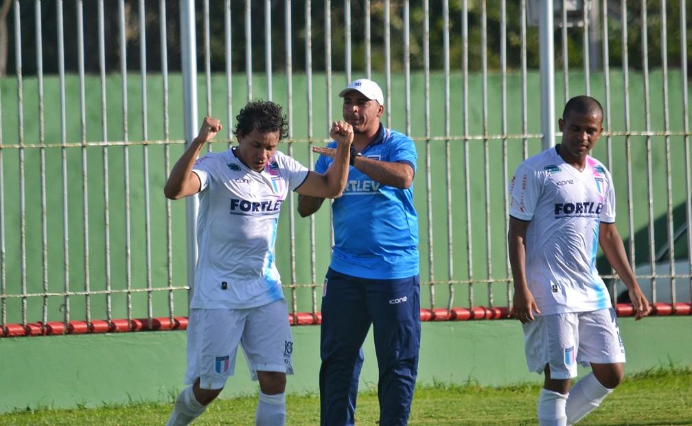Atacante Rodrigo Pardal abriu o placar para o Espírito Santo contra o Boavista (Foto: João Brito/Espírito Santo FC)