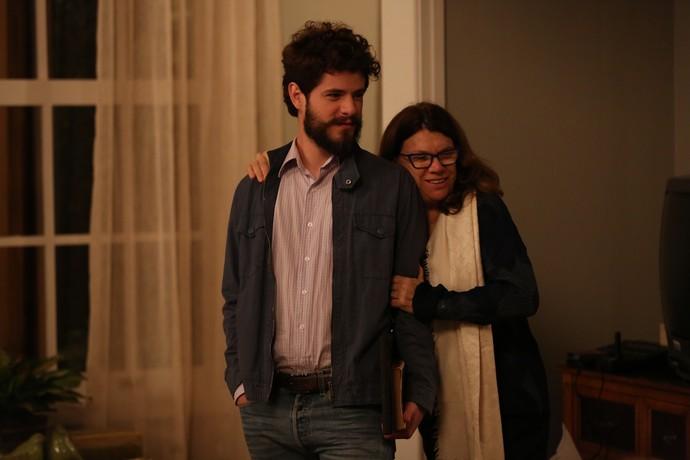 A diretora artística Denise Saraceni  grava com Maurício Destri (Foto: Isabella Pinheiro/Gshow)