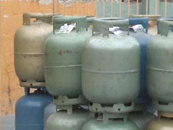 Botijões de gás começam a faltar em São José dos Campos por conta da greve. (Foto: Reprodução/TV Vanguarda)