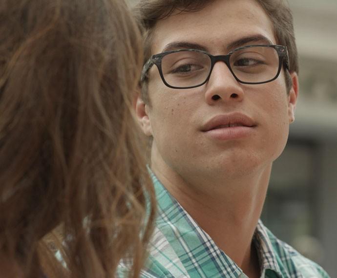 Filipe provoca Nanda dizendo que poderia namorar Jéssica (Foto: TV Globo)
