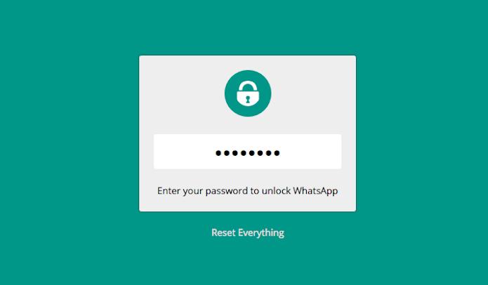 Tela de acesso com senha do WhatsApp Web (Foto: Reprodução/Marvin Costa)