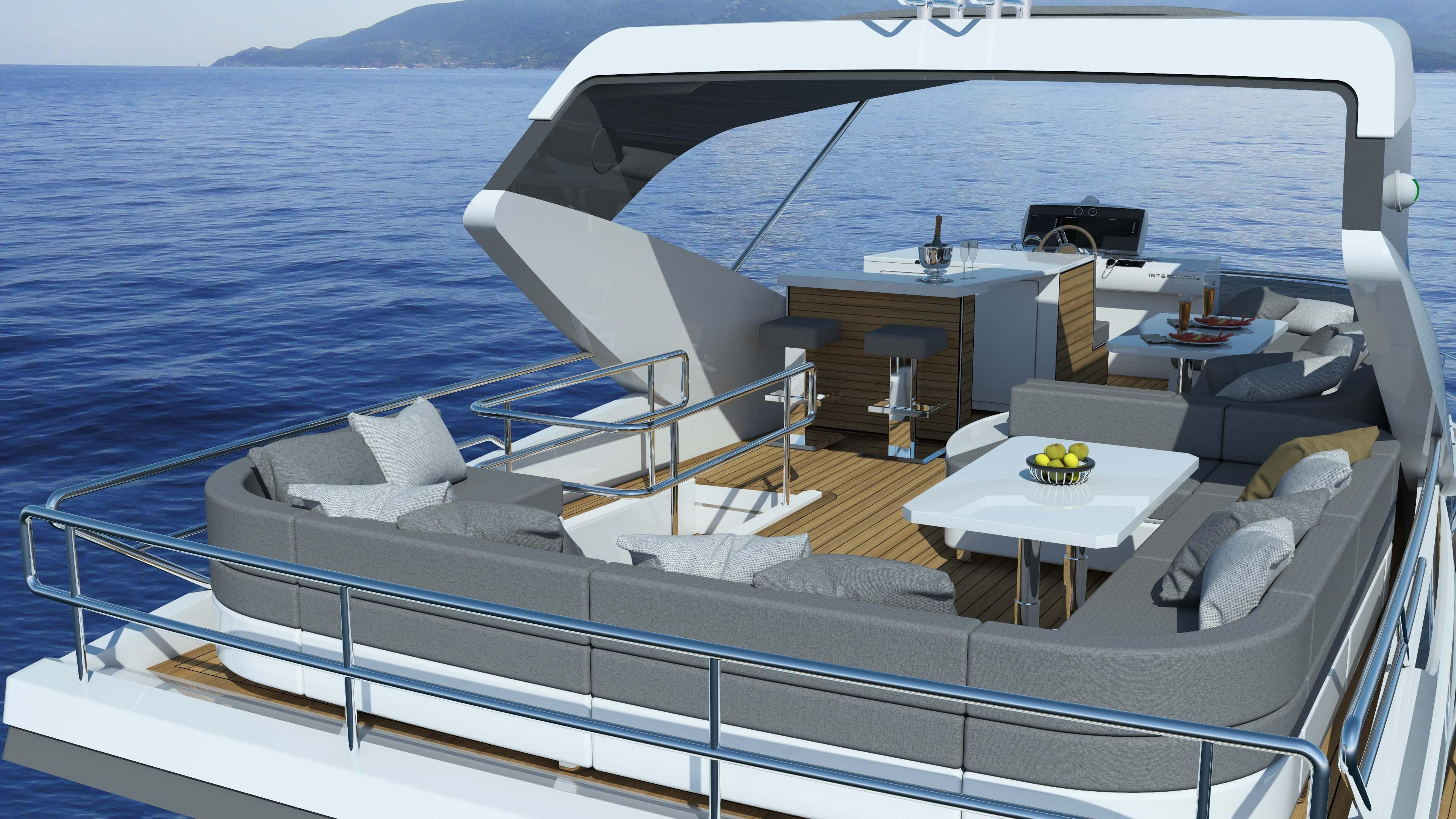 O luxo do Intermarine 62 (Foto: Divulgação)