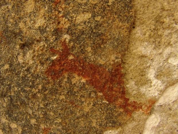 No percurso de 7,5 mil metros, é possível observar as pinturas rupestres com cerca de 7 mil anos no Sítio Arqueológico (Foto: Divulgação/Prefeitura de Tibagi)