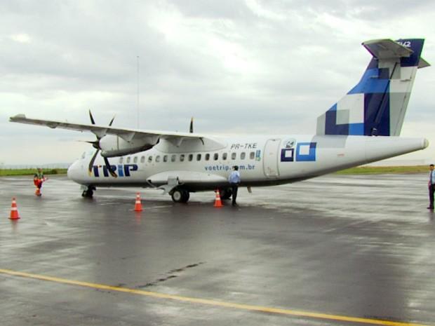 Azul Linhas Aéreas encerra operações no aeroporto de Varginha (MG) (Foto: Reprodução EPTV / Tarcísio Silva)