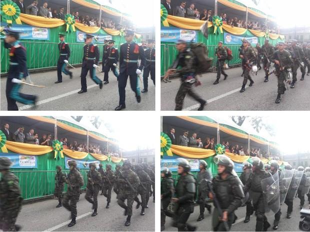 Desfile da Independência no Centro de Petrópolis 2 (Foto: Andressa Canejo/G1)