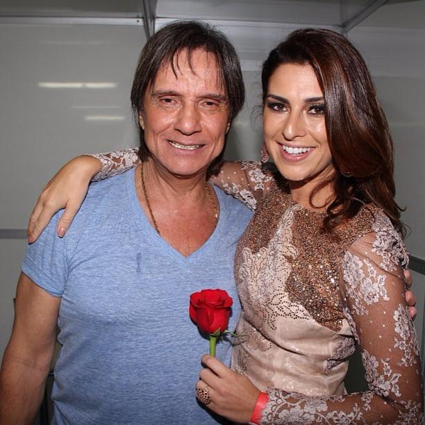 Roberto Carlos e Fernanda Paes Leme (Foto: Instagram/Reprodução)