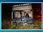Três morrem em colisão entre carro de passeio e ônibus, em Goiás