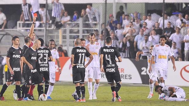 Expulsão do Emerson do Corinthians (Foto: Marcos Ribolli  / Globoesporte.com)