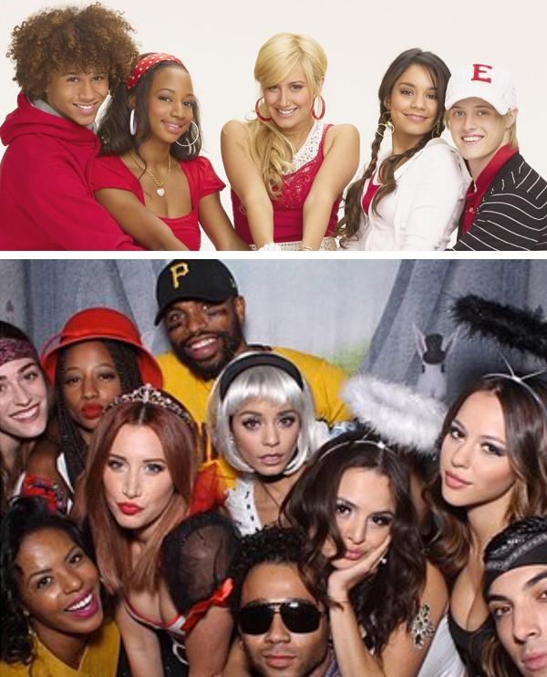 O elenco de 'High School Musical' em 2006 e hoje (Foto: Reprodução / Instagram)