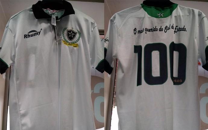 Camisa branca comemorativa dos 100 anos do Estrela do Norte (Foto: Divulgação/Estrela do Norte)