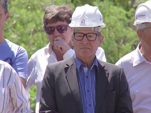 Di Fiori (de óculos e capacete) em uma das últimas aparições (Foto: Reprodução/TV TEM)