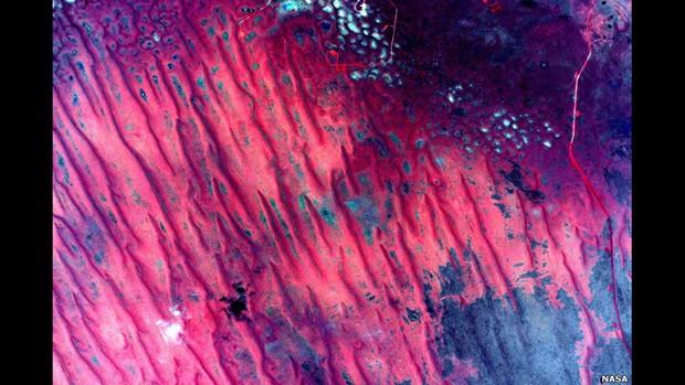 Imagens da Estação Espacial transformam paisagem da Austrália em arte abstrata
