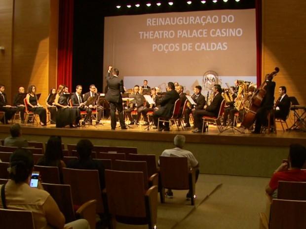 Teatro do Palace Casino é reinaugurado em Poços de Caldas (Foto: Reprodução EPTV)