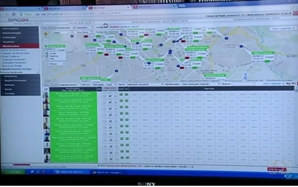 Dados de presos monitorados por tornozeleiras deixaram de ser repassados à SSPAP (Foto: Reprodução/TV Anhanguera)