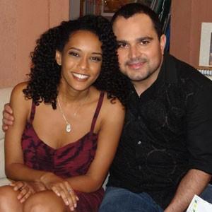'Sou fã da Penha', diz Luciano ao gravar cena (Cheias de Charme/TV Globo)