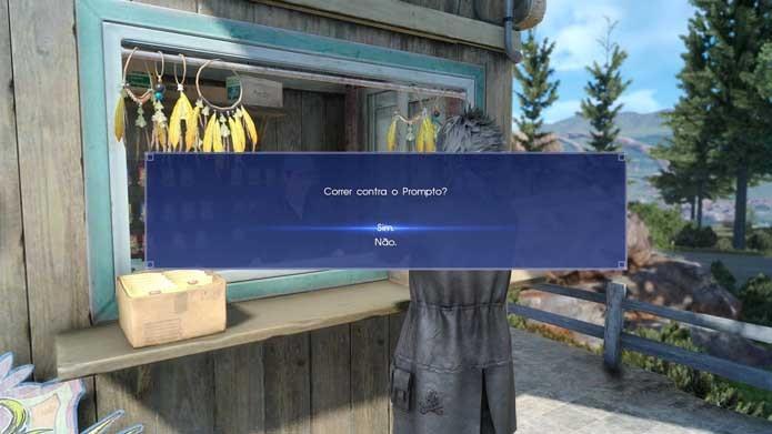 Aceite o desafio em Final Fantasy XV (Foto: Reprodução/Murilo Molina)