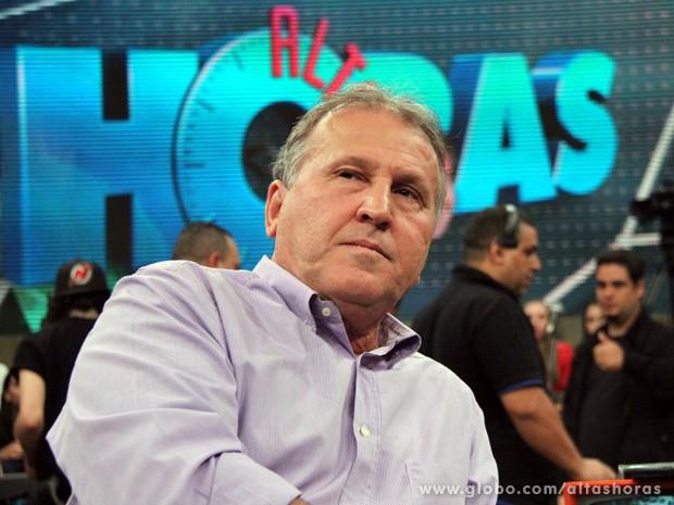 Zico participa do programa Altas Horas deste sábado (Foto: TV Globo/Altas Horas)