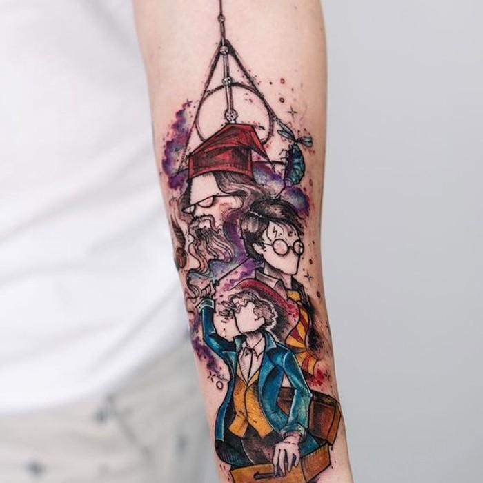 Tatuagem de Harry Potter (Foto: Reprodução/Pinterest/Tattoo Ideas)