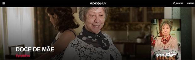 Doce de mãe no Globo Play (Foto: Divulgação/Globo Play/G1)