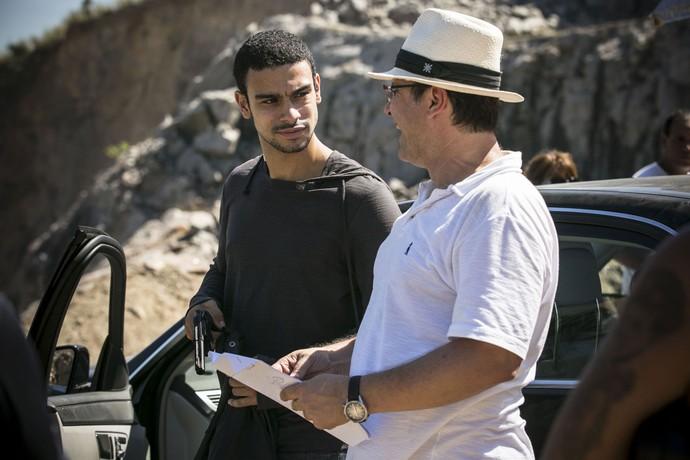 Sérgio Malheiros e Luiz Fernando Rios em dia de externa (Foto: Gshow)