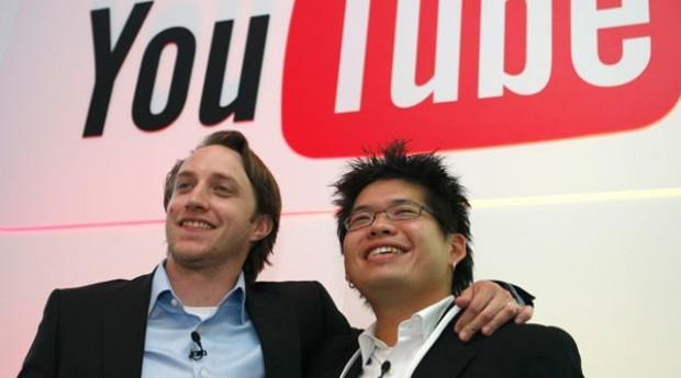 Chad Hurley e Steve Chen: os caras transformaram a web numa TV (Foto: Reprodução )