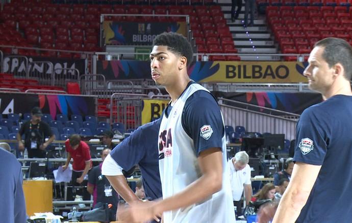 treino dos Estados Unidos para o mundial de basquete (Foto: Cassio Barco)