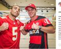 Torcedores do Flamengo, Cairo Santos e José Aldo se encontram