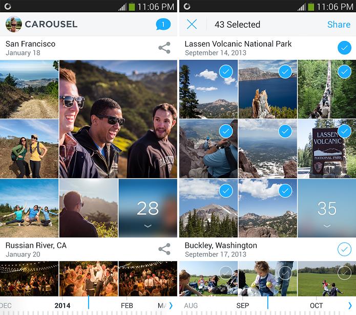 Carousel permite salvar fotos e vídeos automaticamente no Dropbox (Foto: Divulgação/Carousel)