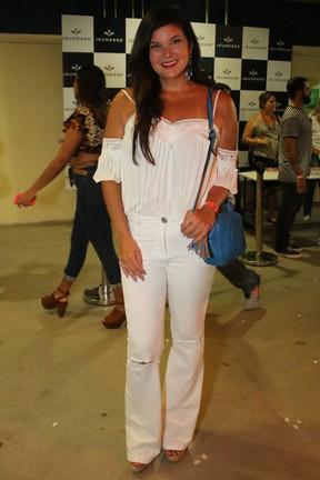 Cristiana Oliveira em show na Barra da Tijuca, Zona Oeste do Rio (Foto: Fábio Moreno/ Ag. News)