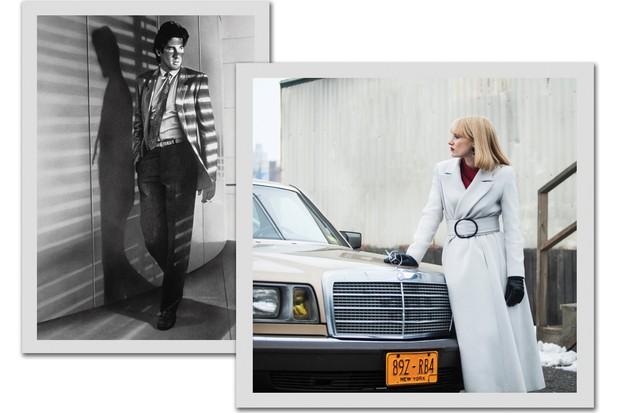 Richard Gere em Gigolô Americano (1980) e Jessica Chastain em O Ano Mais Violento (2014)   (Foto:  Divulgação e Reprodução)