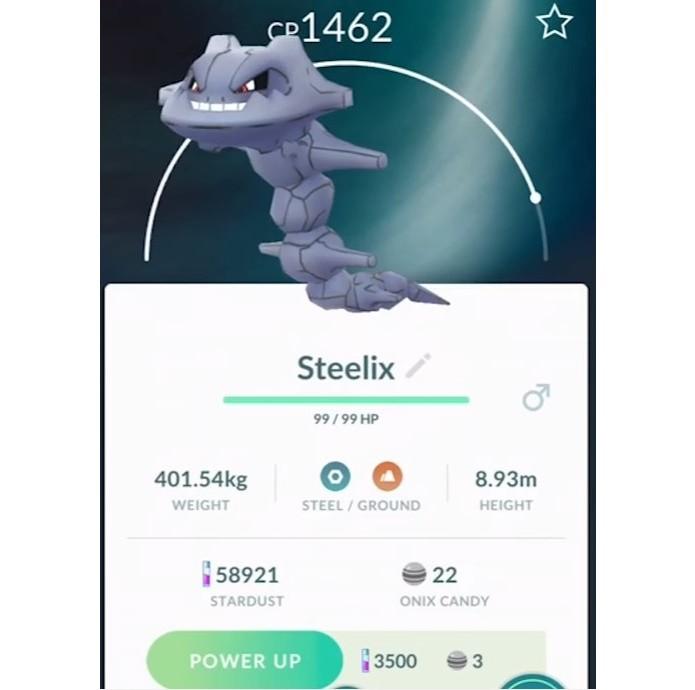 Steelix é a primeira evolução de Onix em Pokémon GO (Foto: Reprodução/Felipe Demartini)