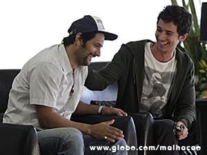 Momentos de descontração durante as gravações (Foto: Malhação / TV Globo)