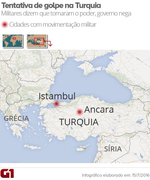 Mapa Turquia (Foto: Reprodução/)