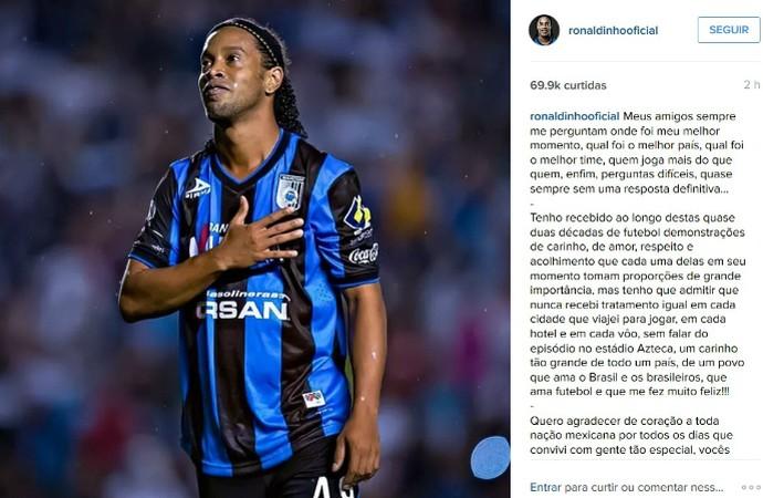 Ronaldinho Gaúcho Instagram (Foto: Reprodução / Instagram)