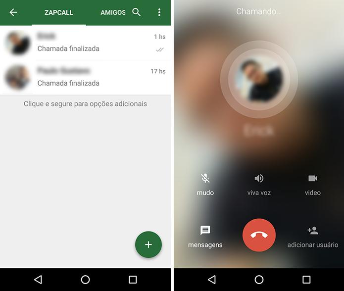ZapZap tem ligações de voz gratuitas (Foto: Reprodução/Paulo Alves)