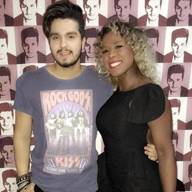 Luan Santana e ex-BBB Adélia em show na Zona Oeste do Rio (Foto: Instagram/ Reprodução)