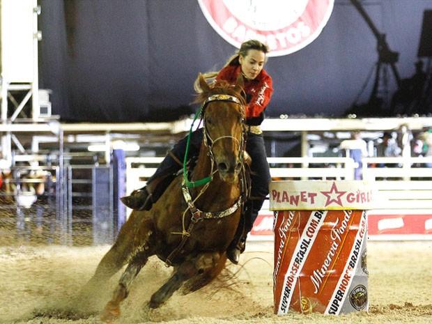 A peoa Keyla Polizello venceu a prova dos Três Tambores e conquistou vaga no mundial em Las Vegas (Foto: Leandro Nascimento)