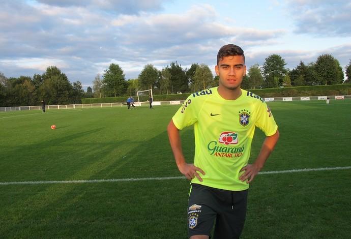 Andreas Pereira Brasil sub-23 (Foto: Felipe Schmidt)