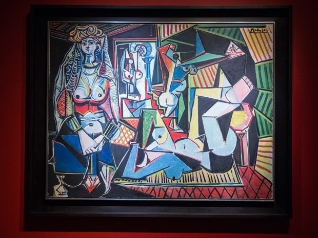 Quadro 'Les femmes d'Alger', de Pablo Picasso, foi leiloado por US$ 179 milhões em Nova Iorque (Foto: Andrew Burton/Getty Images North America/AFP)