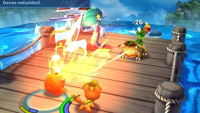 Jogo no estilo Pokémon surpreende pelos gráficos (Foto: Reprodução / Dario Coutinho)