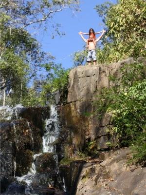 Agente diz que leva filha sempre em cachoeira (Foto: Pâmela Fernandes/ G1)